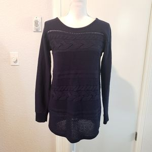 Ann Taylor Cable Knit Tunic Sweater